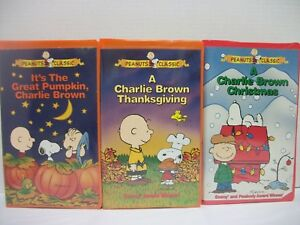 image is loading set of 3 charlie brown vhs movies halloween - Halloween Thanksgiving Christmas