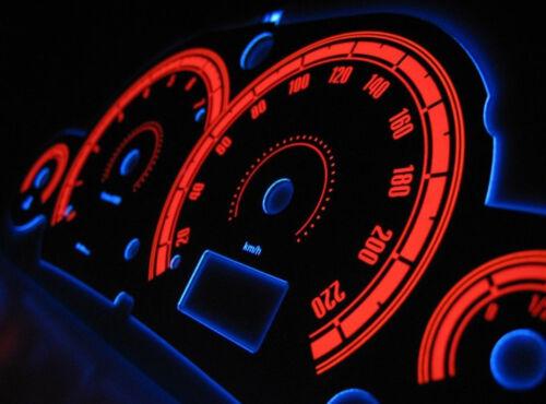 Ford Focus MK1 glow gauges dials plasma dial kit tacho glow dash shift design 3