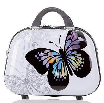 Design Reise Koffer Hartschalenkoffer Schminkkoffer 10L Motiv BB Schmetterling