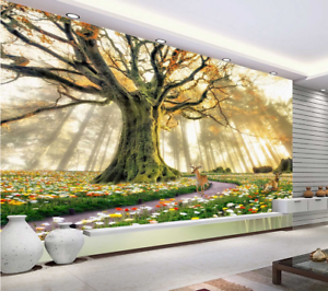 3D Sunny Tree 724 Wallpaper Mural Paper Wall Print Wallpaper Murals UK Lemon