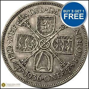 1920 à 1936 George V Silver Florin votre choix de date