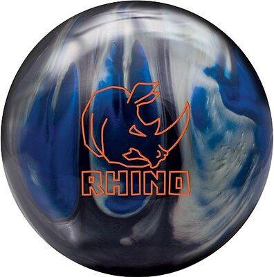Brunswick Rhino Reactive PRE-DRILLED Bowling Ball Red//Black//Gold Pearl