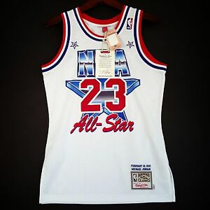 best service badcc f70f2 Details about 100% Authentic Michael Jordan Mitchell Ness 91 All Star  Jersey Size 36 S Mens