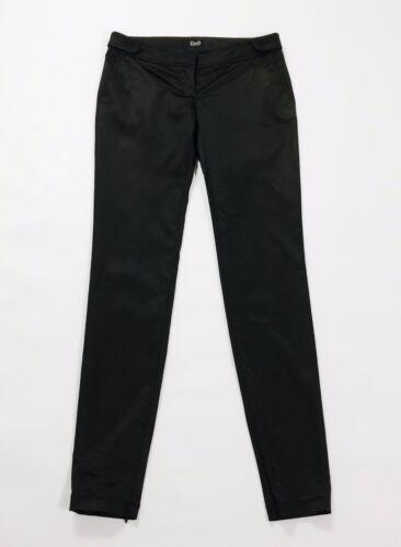 Donna Gabbana Nero Skinny Usato Dolce Lucido Aderenti Raso Dg Pantalone Hot qZppwTFO