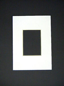 Picture Frame Mat White Set Of Two 5x7 For 25x35 Photo Aceo Mat Ebay