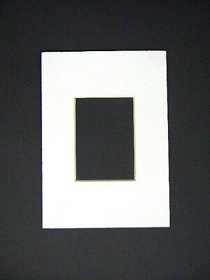 Picture Frame Mat White Set of Fifty 5x7 for 2.5x3.5 photo ACEO mat