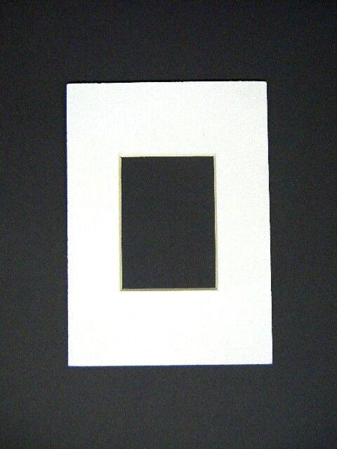 Picture Frame Mat White 8x10 for 3x4 Photo Acid Custom Mat | eBay