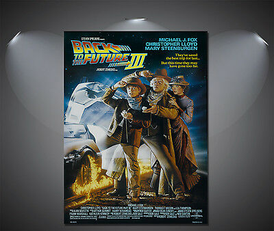 Back to the Future 3 III Vintage Movie Poster - A1, A2, A3, A4 Sizes