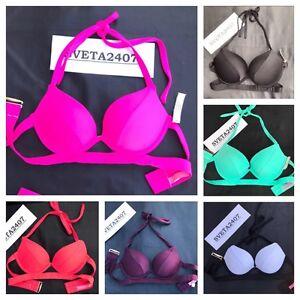 bcb69020b3 NWT Victoria s Secret Bikini Hottie Add 1 Cup Push Up Halter Top ...
