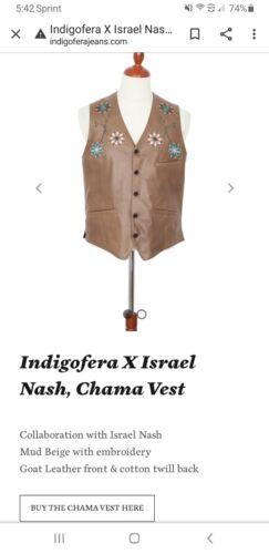 Indigofera X Israel Nash leather  chama vest Rare