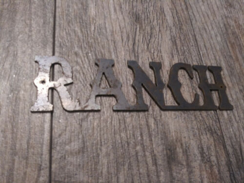 Details about  /RANCH Metal Wall Art Word Quote Sign Decor Steel rustic Craft Supplies DIY New