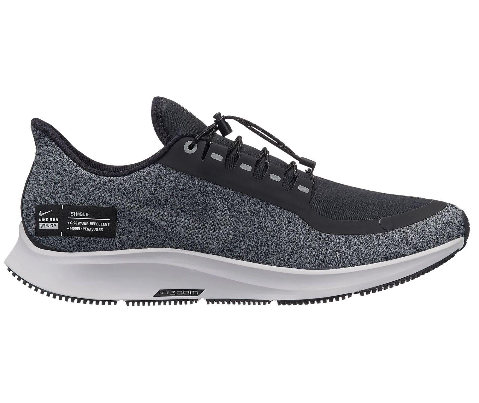 Nike Air Zoom Pegasus 35 Shield Mens AA1643-001 Black Grey Run shoes Size 13