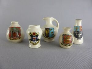 A & S STOKE-ON-TRENT ARCADIAN CHINE PORCELAINE ANGLAISE LOT 5 PIECES pichet vase Ss5EHy5w-09095100-941239967