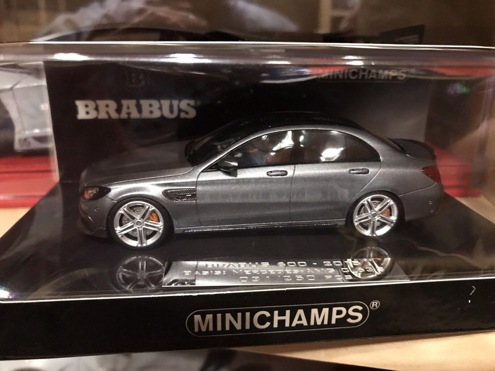 MERCEDES-Benz Brabus 600 AMG c63-Grigio Metallico-Minichamps - 1 43