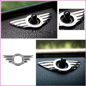 3D-Emblem-Cromo-Insignia-Pin-Puerta-Cerradura-ala-Cooper-Logotipo-para-BMW-Mini-R50-R53-R56