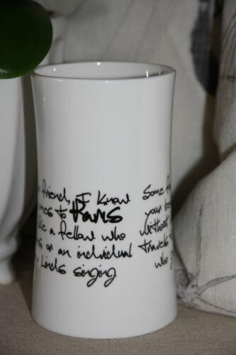 * LENE BJERRE Vase Teelichthalter Francesca Coll Weiß Schwarz Porzellan