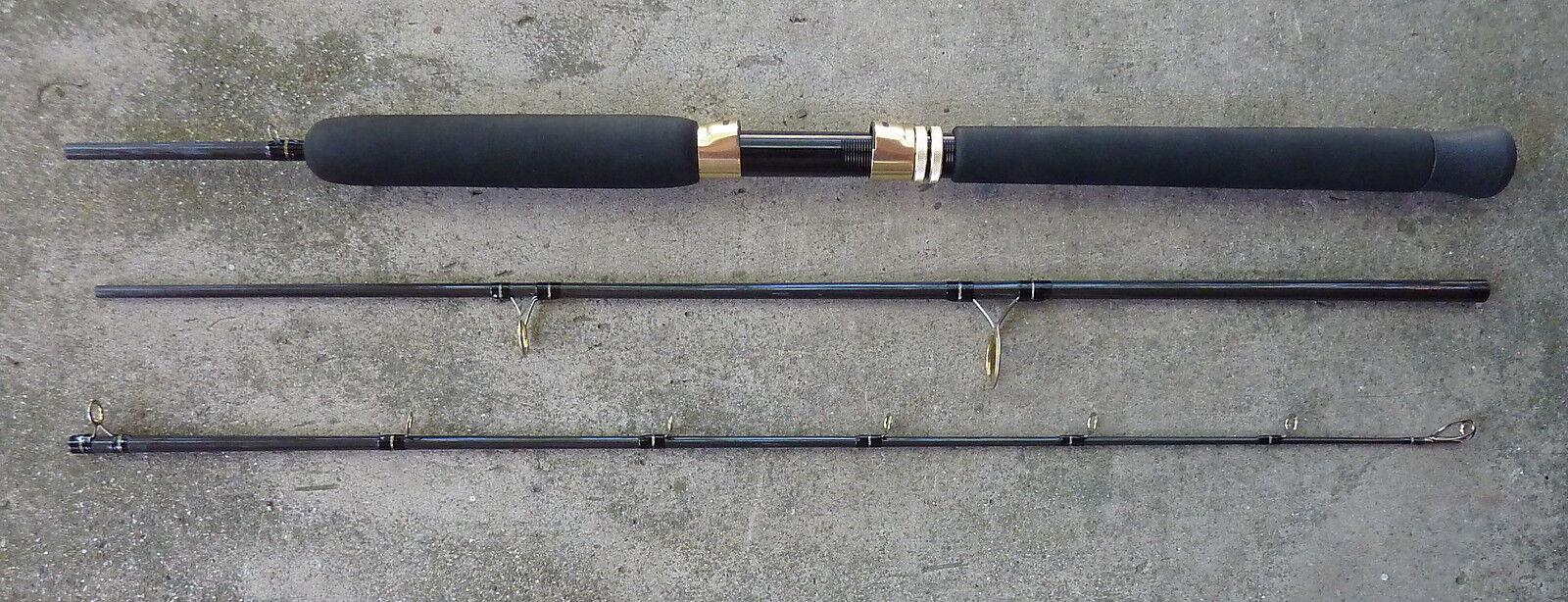 Tarpon Mahi Custom Travel Spinning (fixed spool) Fishing Rod -- 30 Lb. Class