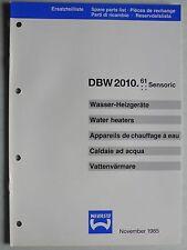 WEBASTO Wasser-Heizgeräte DBW 2010.61 Sensoric Ersatzteilliste, 11.1985, 16 S.