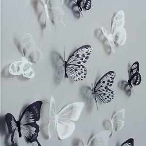 18pieces Diy 3d Butterfly Wall Stickers Art Design Decals Room Decor