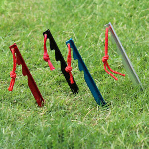10PCS Aluminum Alloy Lightweight Tent Pegs Stake Nails Camping Trip Outdoor FU
