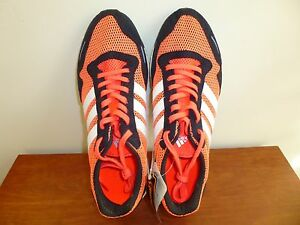 0ed41b93135 Men s Adidas Adizero Adios Boost 3 Running Shoes AF6554 Solar Red 8 ...