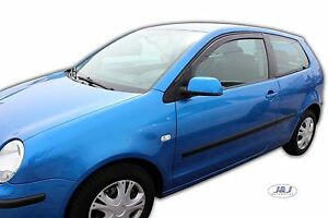 9093626e046a Volkswagen Polo 9N 3 door Front wind deflectors 2002-2009 2pc set ...