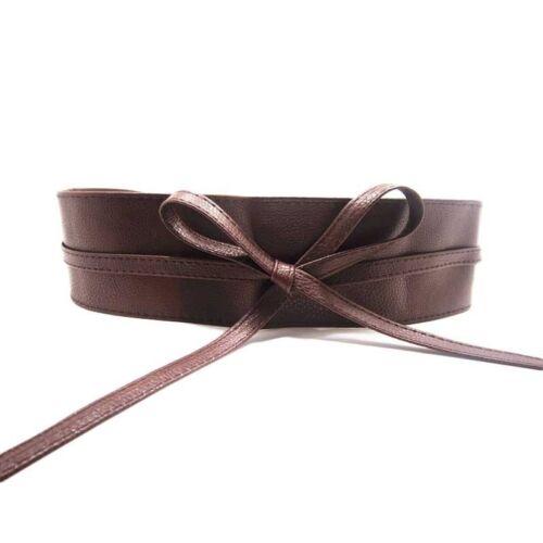 Ceinture large une large ceinture tour de ceinture cuir synthétique taille robe marron noir rouge