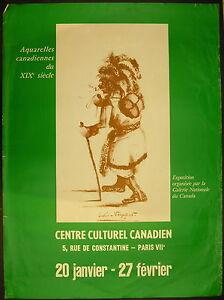 Affiche Exposition Aquarelles Canadiennes Du Xix ème Centre Culturel Canadien