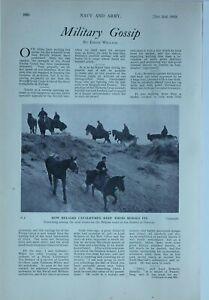 1914 WW1 ARTICLE & PICS WAR NEWS BELGIAN CAVALRYMEN SPY SUSPECT FRENCH ARTILLERY