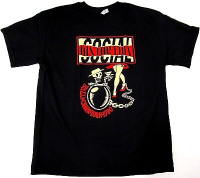 SOCIAL DISTORTION T-shirt Ball /& Chain Tour 1990 Punk Rock Tee Men/'s New