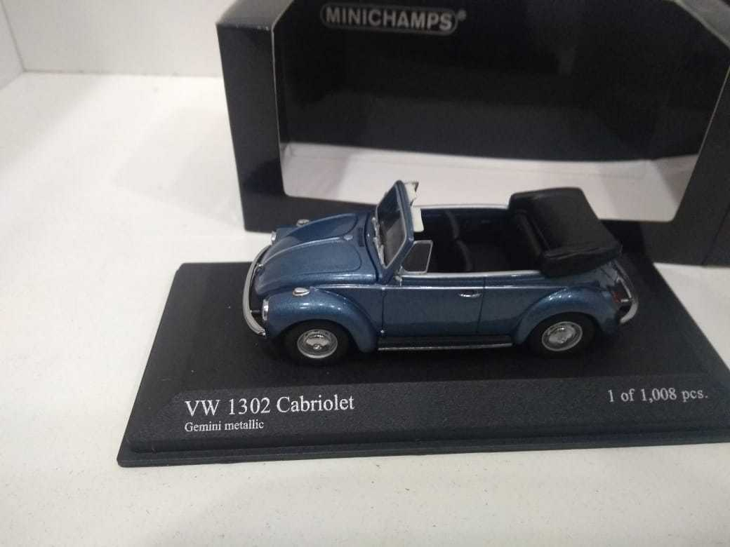 MINICHAMPS 430055042 VW 1302 CABRIOLET 1970 bluee 1 43 Volkswagen beetle fusca
