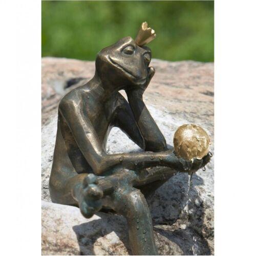 Garguglia rana RE Borris sognando di bronzo artista canapa Decorazione ro-88764