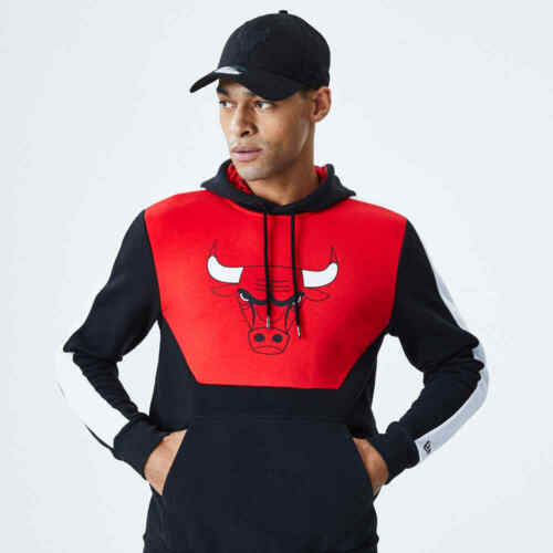 New Era NBA CHICAGO BULLS Colour Block Hoodie Pullover NEU//OVP