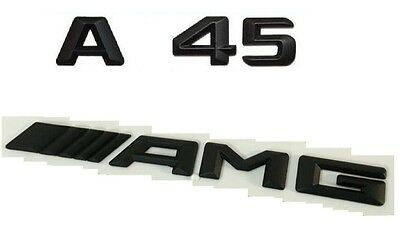 Black Matt A45 //////AMG Letters Trunk Emblem Badge Sticker For Benz A45 AMG