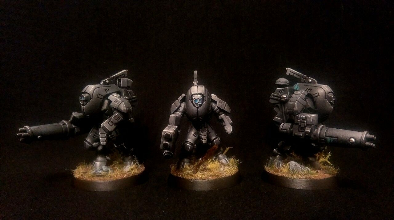 PRO-PAINTED Tau Empire XV25 Stealth Battlesuits Kill Team COMMISSION COMMISSION COMMISSION 4 models 07b114