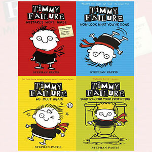 Stephan-Pastis-Collection-Timmy-Failure-4-Books-Set-We-Meet-Again-Brand-NEW