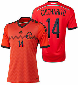 bbd012b6cc5 Image is loading ADIDAS-CHICHARITO-MEXICO-AWAY-JERSEY-FIFA-WORLD-CUP-
