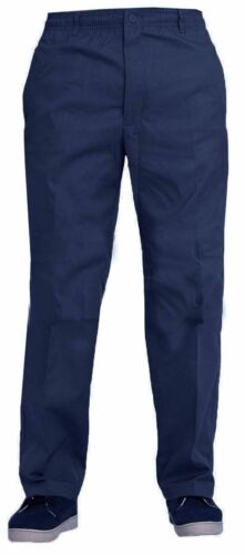 Mens Elasticated Waist Work Casual Rugby Pants Smart Rugby Trousers Size 30-50