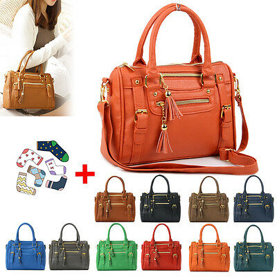 New Fashion Tote Handbag Hobo Bag Women Shoulder Cross Body Bag Free Gift Socks