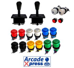 Kit-Joysticks-Americano-Arcade-x2-Joysticks-Negros-12-botones-2-player
