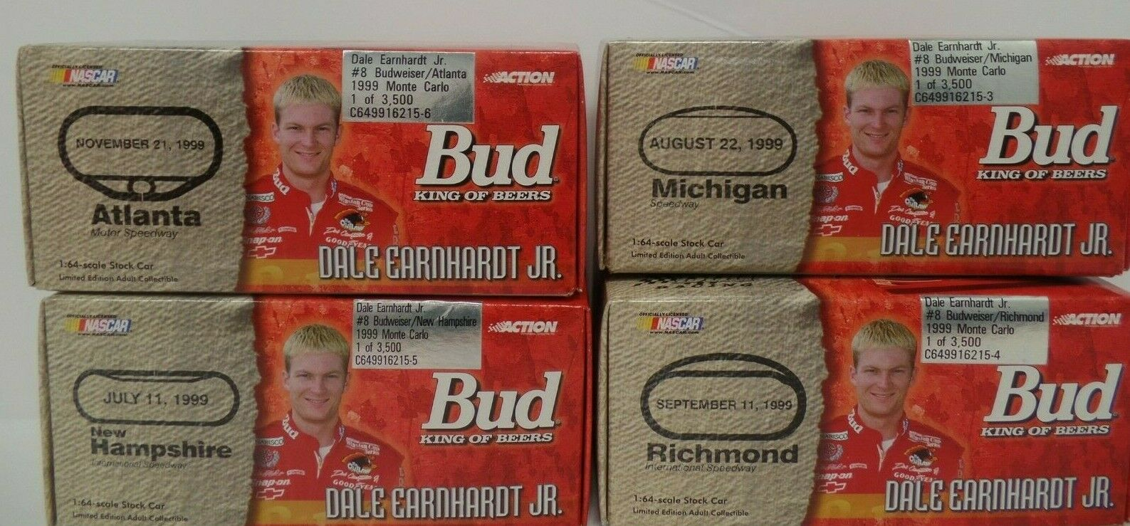 Dale Earnhardt Jr Lot of 4 Raceway Themed 1 64 Diecast Action  032619DBT3