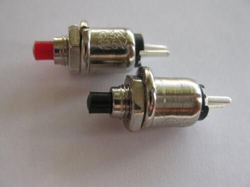 5 Stück mini Taster Mikro Taster miniatur Taster Einbautaster  schwarz