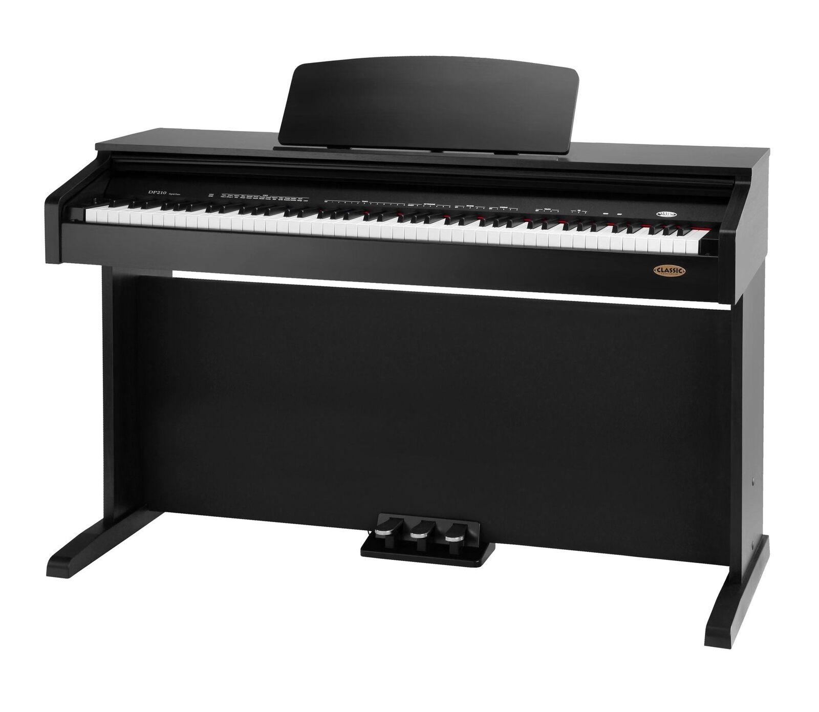 CLASSIC CANTABILE DP-210 SM E-PIANO DIGITAL 3 PEDALE METRONOM LAYER SCHWARZ MATT