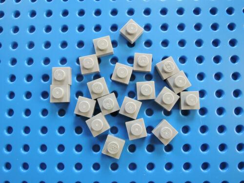 LEGO 20 x bauplatte PIASTRA PIATTA 1x1 3024 NUOVO GRIGIO CHIARO