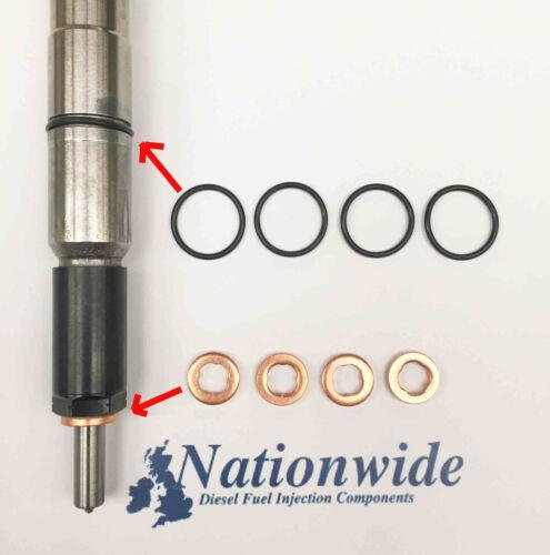 Skoda Superb 1.6 Tdi Common Rail Injector Washers /& Body Seals 03L130277B x 4