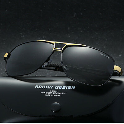 HD Men's Sunglasses Aoron Polarized sports Outdoor Driving Eyewear Glasses UV400