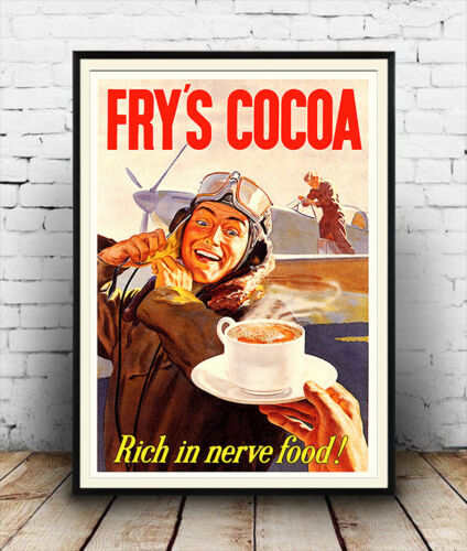 poster reproduction. chocolate drink  advertisment Frys Cocoa