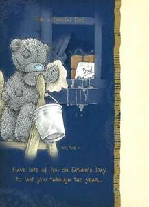 Me to you bear special dad fathers day card cute carte blanche image is loading me to you bear special dad father 039 m4hsunfo