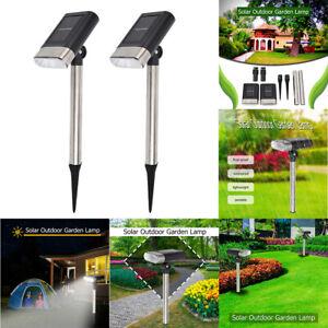 2PCS Outdoor LED Solar Light Wall Mount Garden Path Fence Courtyard Walkway Lamp