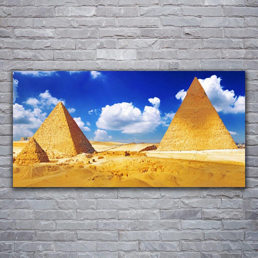 Photo sur toile Tableau Image Impression 120x60 Paysage Désert Pyramides